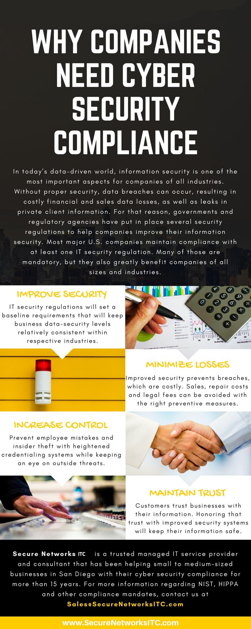 Why businesses need security compliance - Infographic
