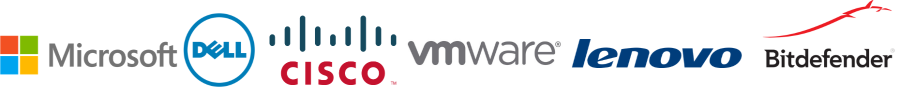 Microsoft, Dell, Cisco, VMWare, Lenovo, and Bitdefender