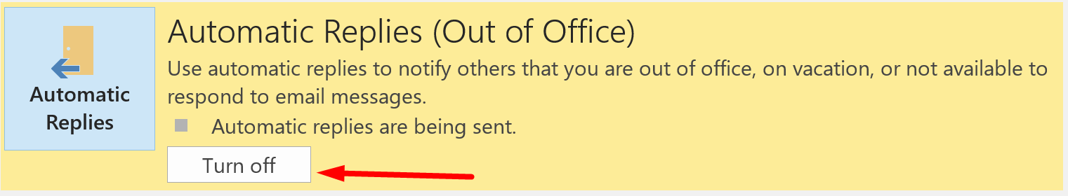 Turn off out of office